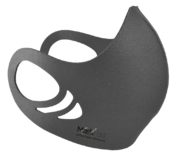 An antimicrobial, breathable, comfortable and washable gray color spacer face mask